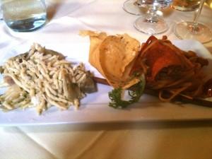 Arke' - Trofiette pecorino e Linguine all'astice