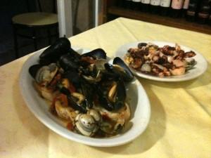Il Bastione - Zuppa cozze Insalata polpo
