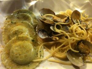 Lord Nelson - Ravioli patate carciofi, spaghetti arselle