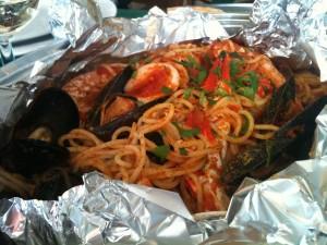 Sa Tuedda - Spaghetti al cartoccio di mare