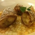 Lisboa - Cannolini di banana pesche e mele