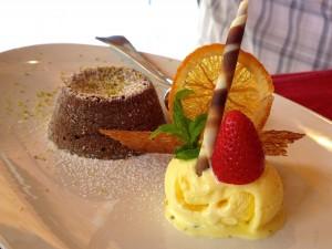 Achille - Tortino al cioccolato, Gelato di vaniglia